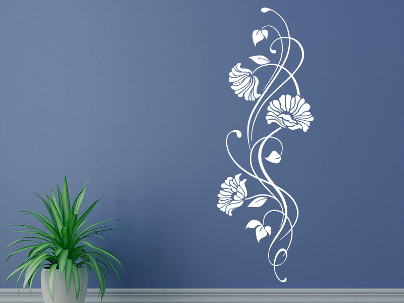 Wandtattoo Ornament mit Blüten