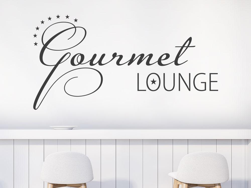 Wandtattoo Gourmet Lounge Wohnküche