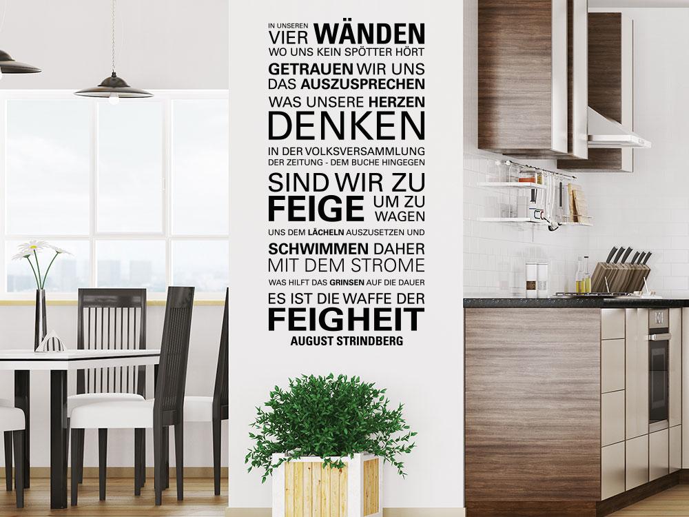 Wandtattoo In unseren vier Wänden - August Strindberg