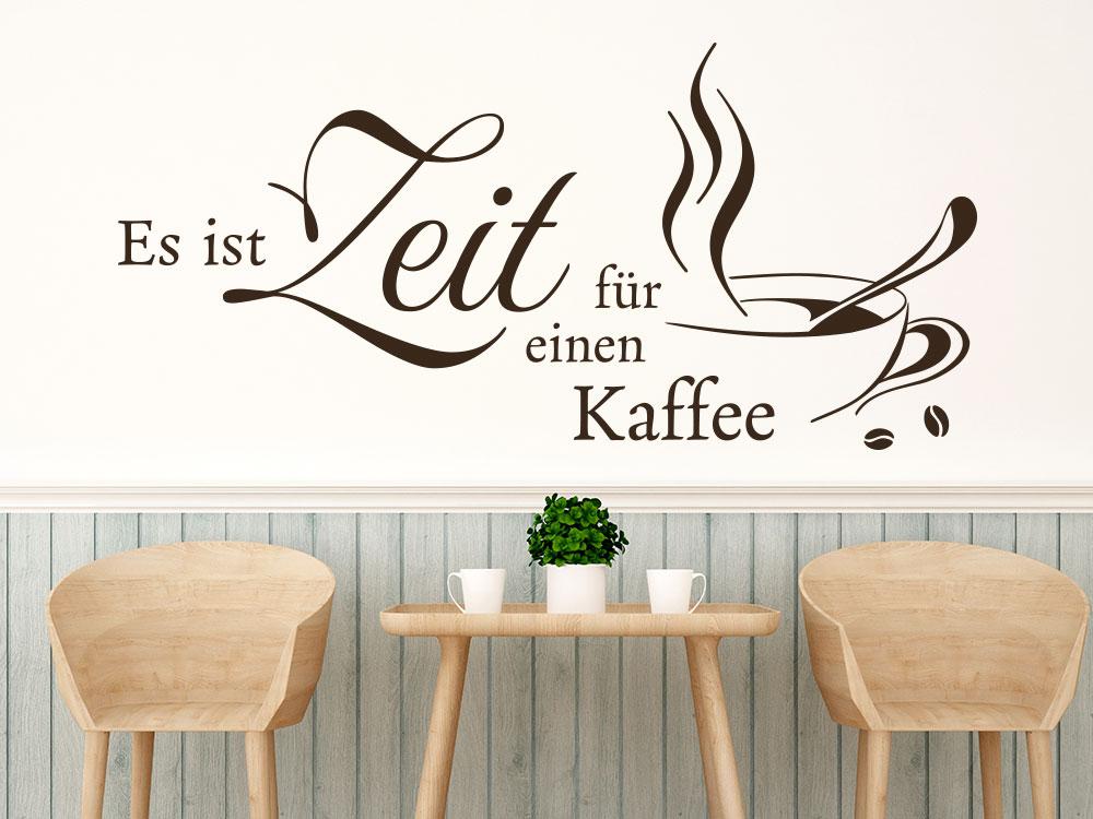 Wandtattoo Es ist Zeit für einen Kaffee