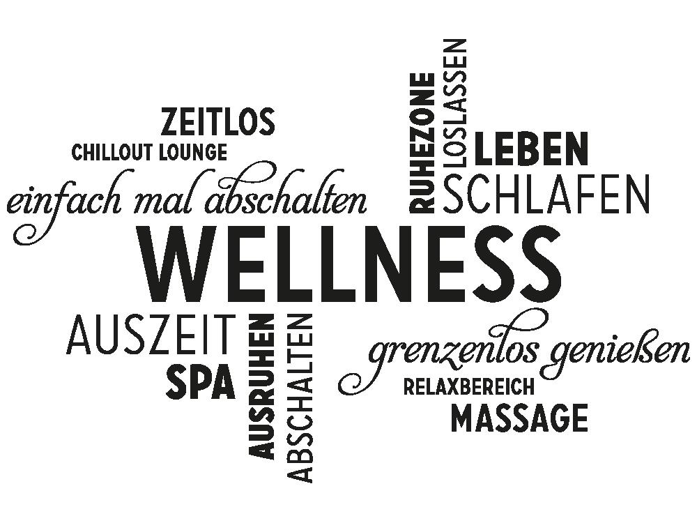 Wellness sprüche gutschein  Wandtattoo Wellness Wortwolke von KLEBEHELD®.de