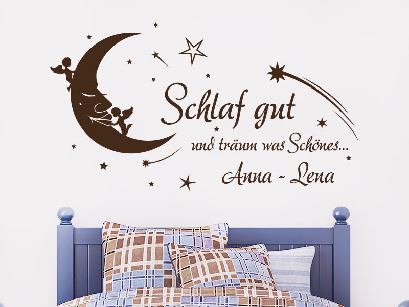 wandtattoo schlaf gut und tr um was sch nes klebeheld. Black Bedroom Furniture Sets. Home Design Ideas