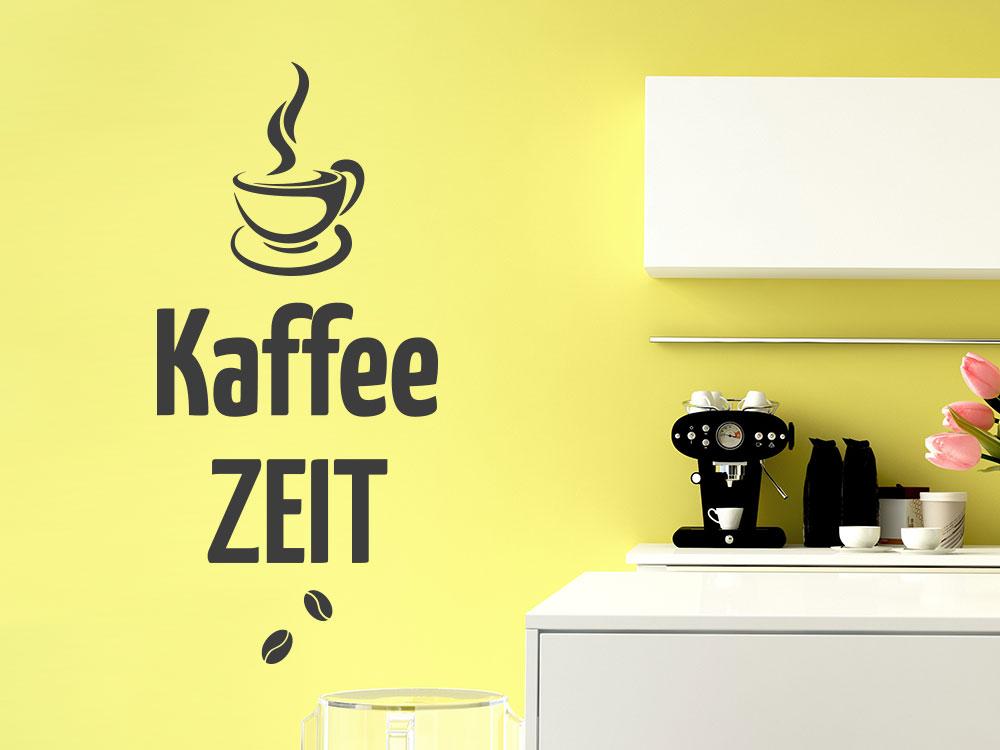 Wandtattoo Kaffee Zeit