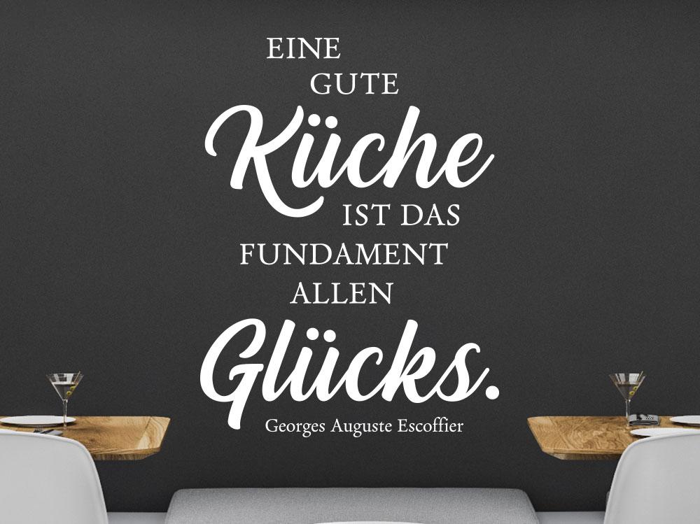 Küchen Wandtattoo Eine Gute Küche ist das Fundament