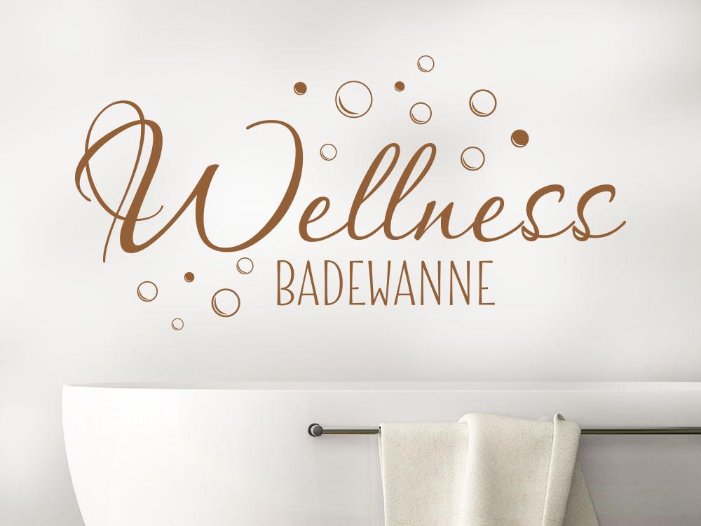 Wandtattoo Wellness Badewanne mit Seifenblasen