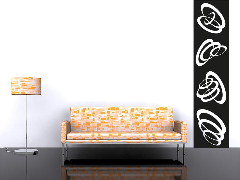 Wandtattoo Banner 3D Kreise