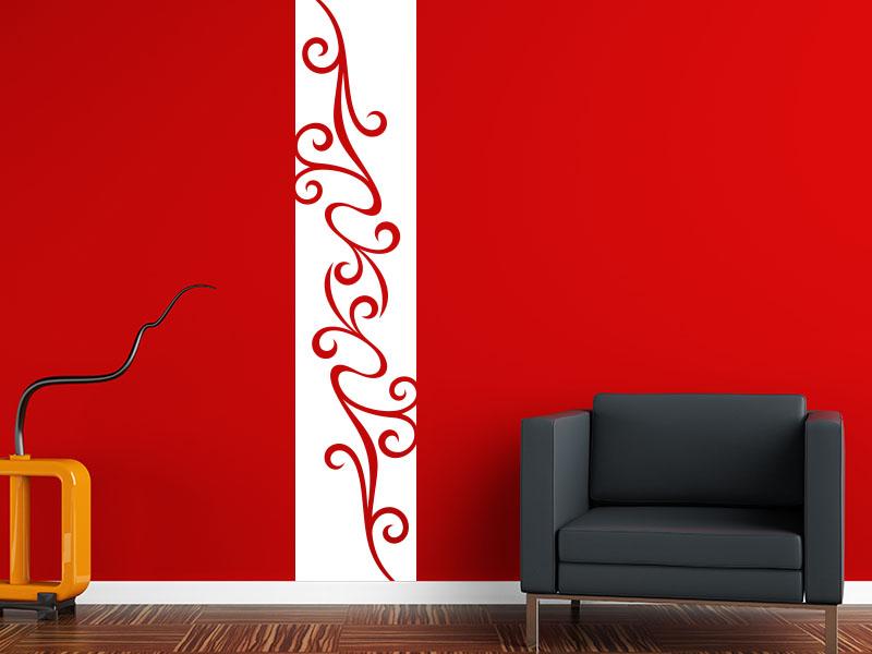 Wandtattoo Banner Modernes Ornament