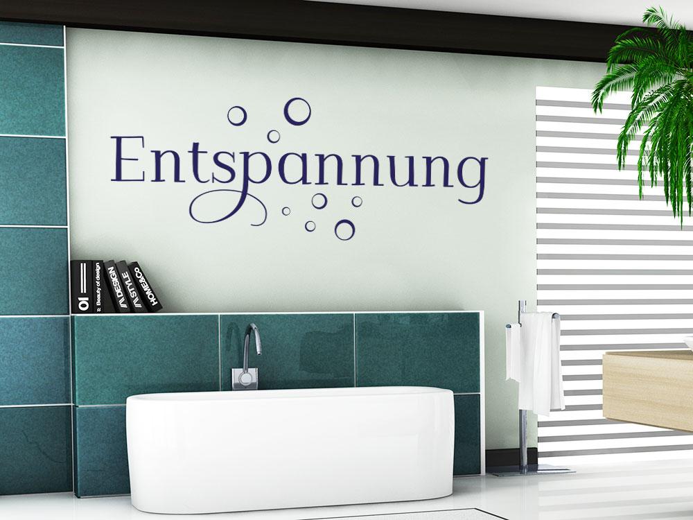 Wandtattoo Entspannung über Badewanne