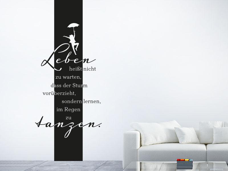 Wandtattoo Banner Leben tanzen
