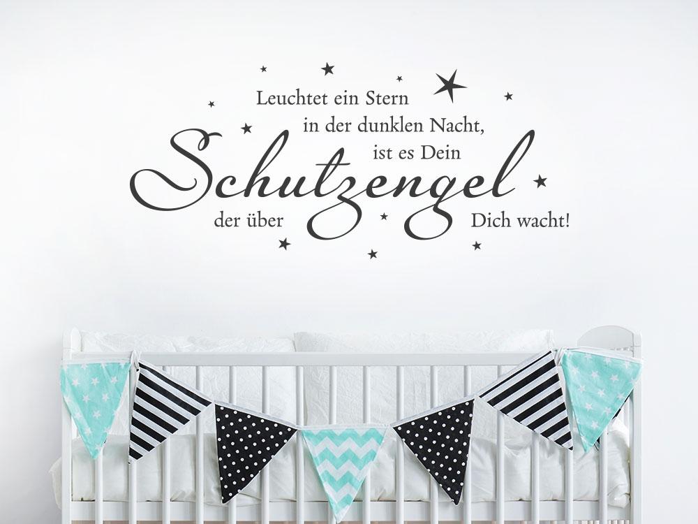 Kinderzimmer Wandtattoo Leuchtet ein Stern in der dunklen Nacht, ist es Dein Schutzengel der über dich wacht!