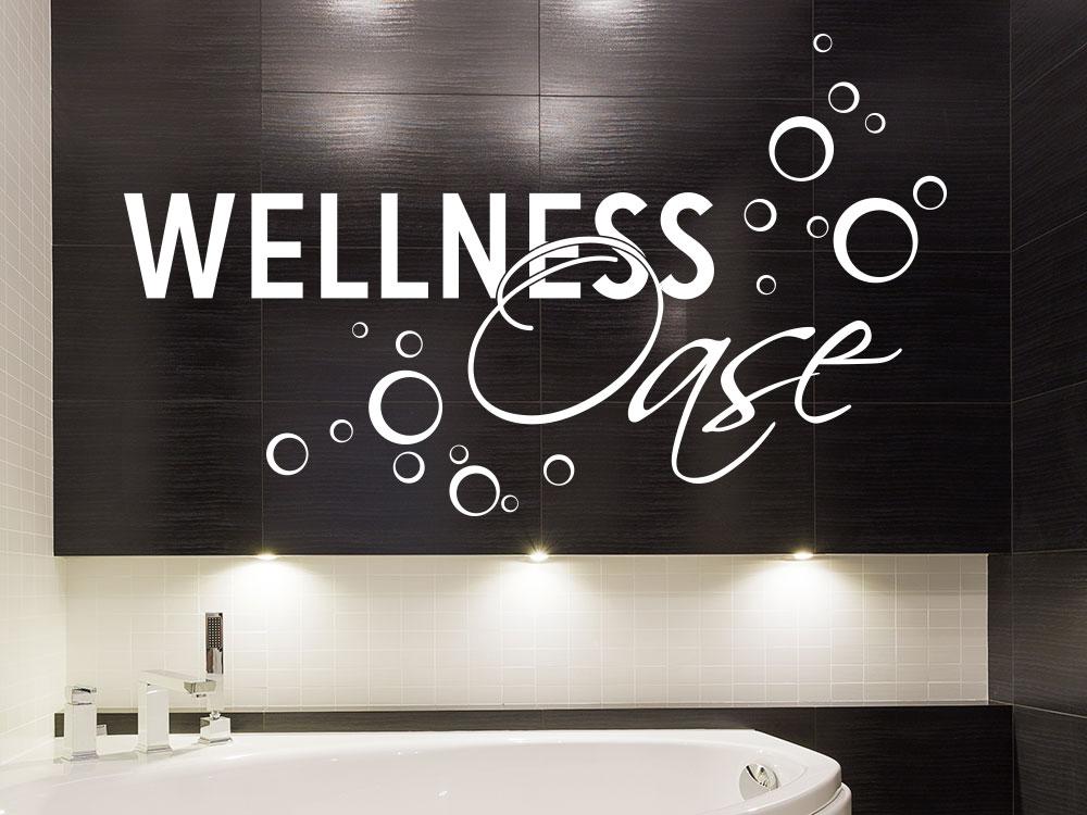 Wandtattoo Wellness Oase Seifenblasen