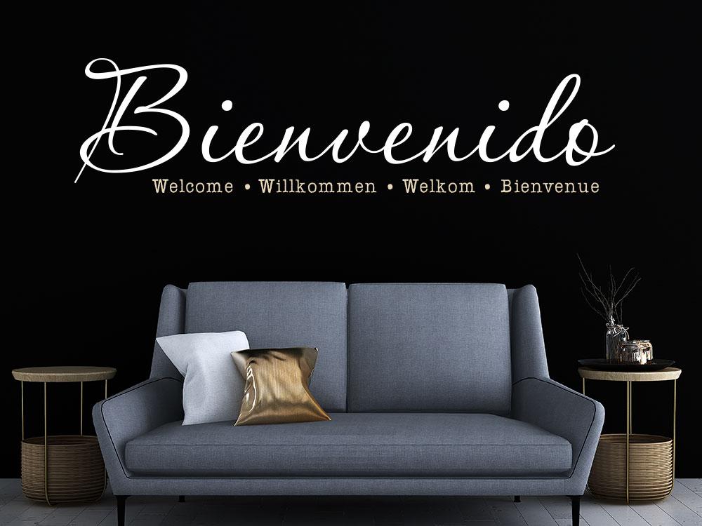 Wandtattoo Bienvenido Welcome im Flur