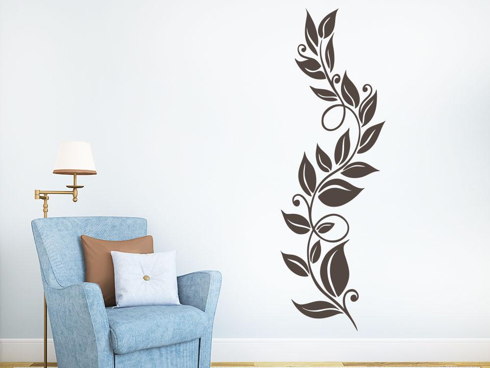 Wandtattoo Blätterranke Wohnzimmer Dekoration