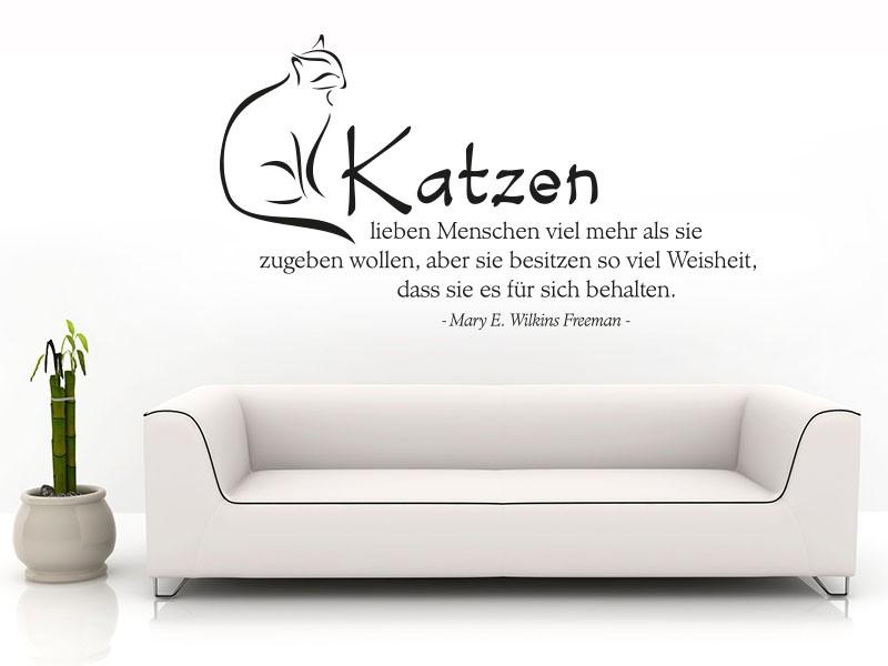 Wandtattoo katzen spr che reuniecollegenoetsele - Katzen wandtattoo ...