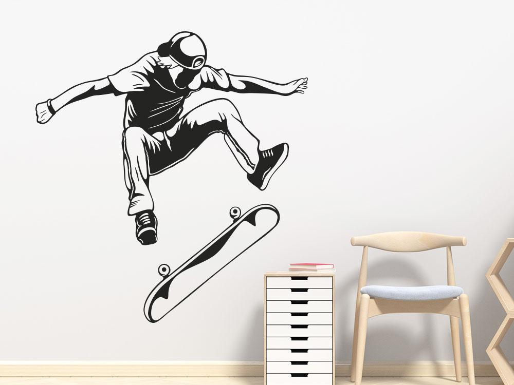 Wandtattoo Skateboarder