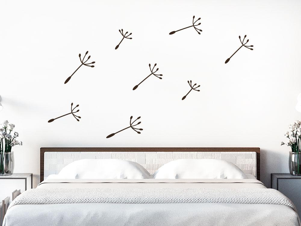 Zusatzsamen Set Wandtattoo Pusteblumen Banner im Schlafzimmer