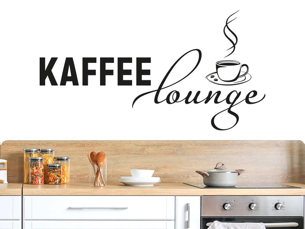Wandtattoo Kaffee Lounge im Retro Style