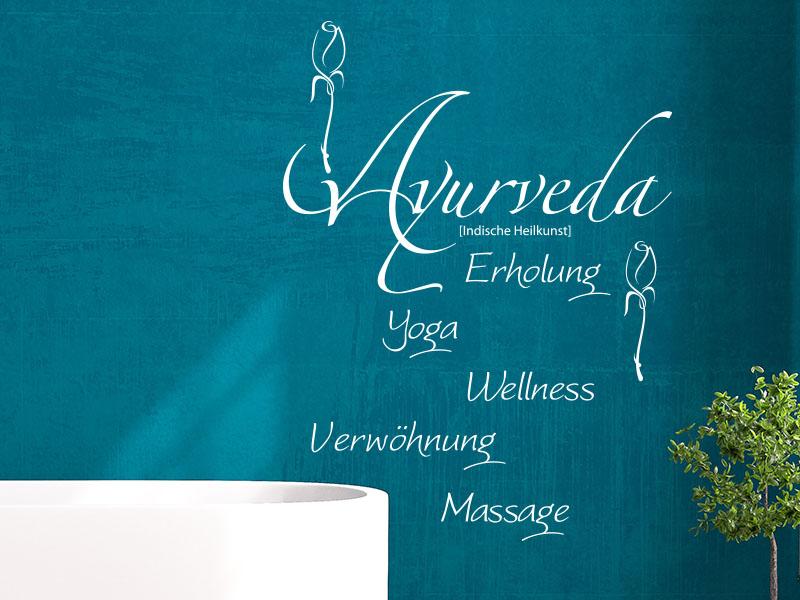 Wandtattoo Ayurveda - indische Heilkunst
