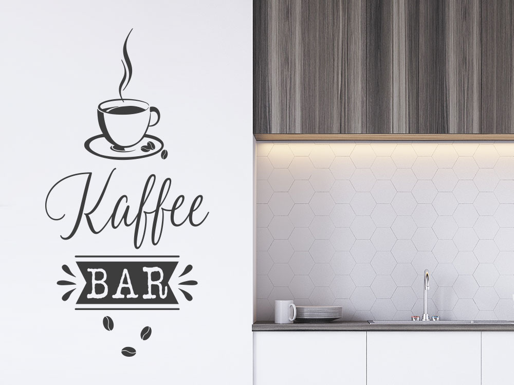 Wandtattoo Retro Kaffee Bar