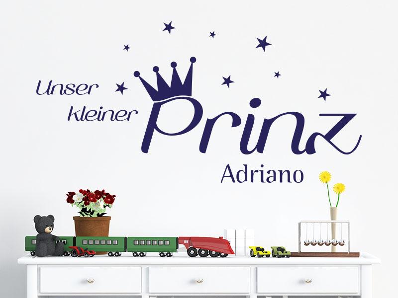 Wandtattoo Unser kleiner Prinz mit Wunschname