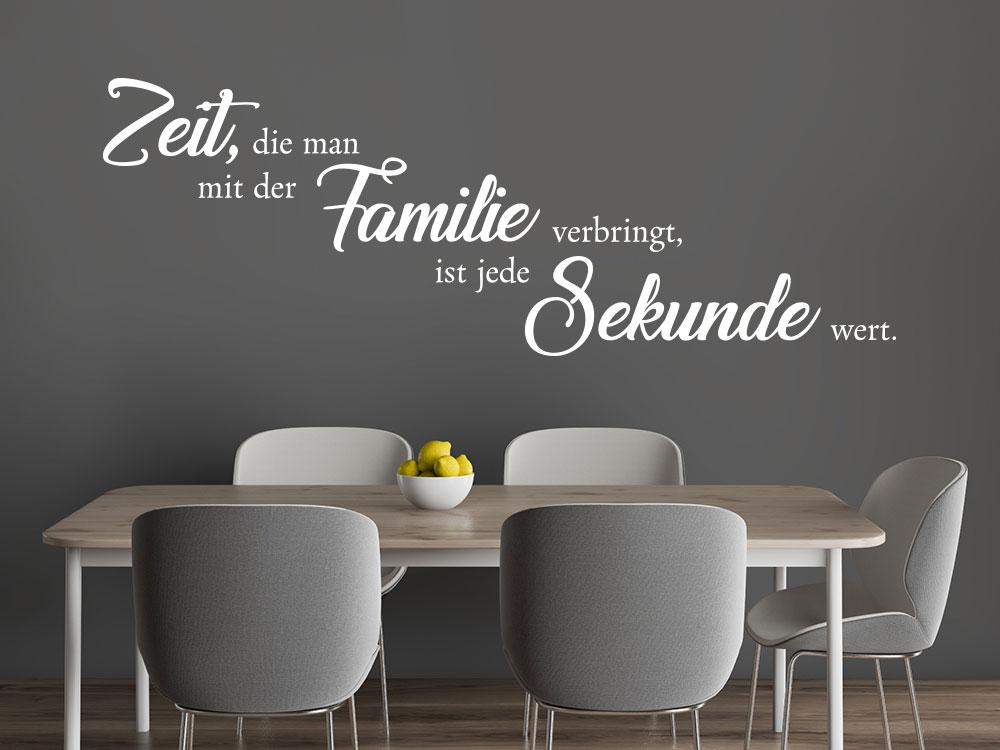 Wandtattoo Zeit, die man mit der Familie verbringt - Familienspruch