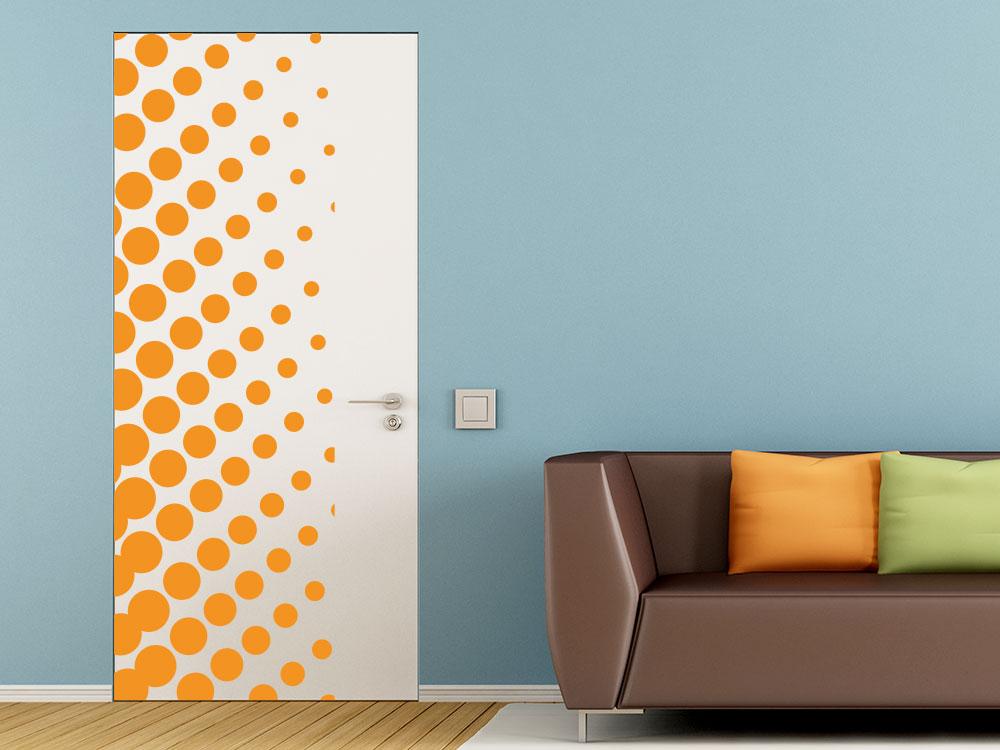 Wandtattoo Banner mit Punkte für Zimmerüren