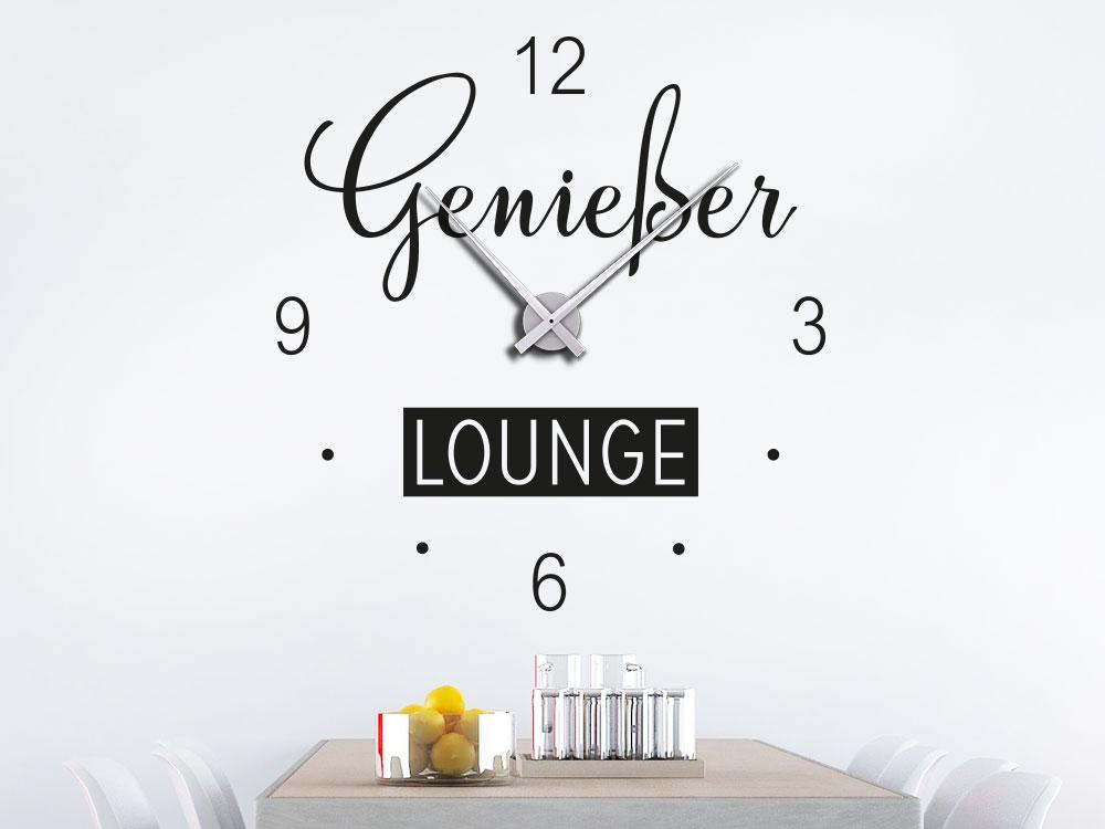 Wandtattoo Uhr Genießer Lounge