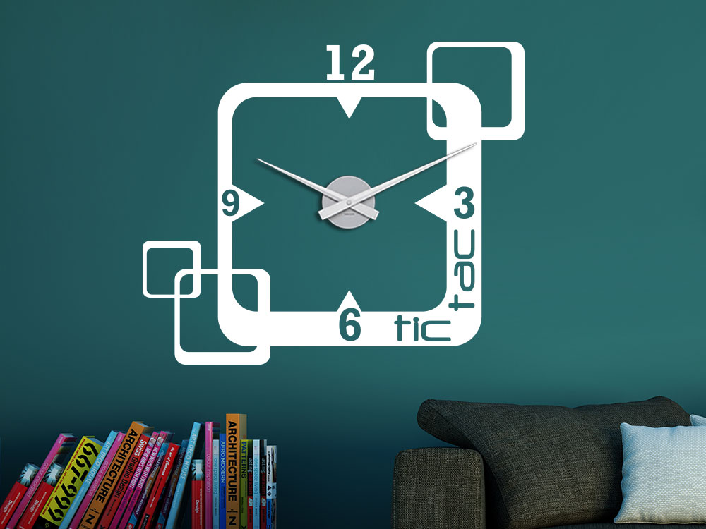Wandtattoo Uhr tic tac