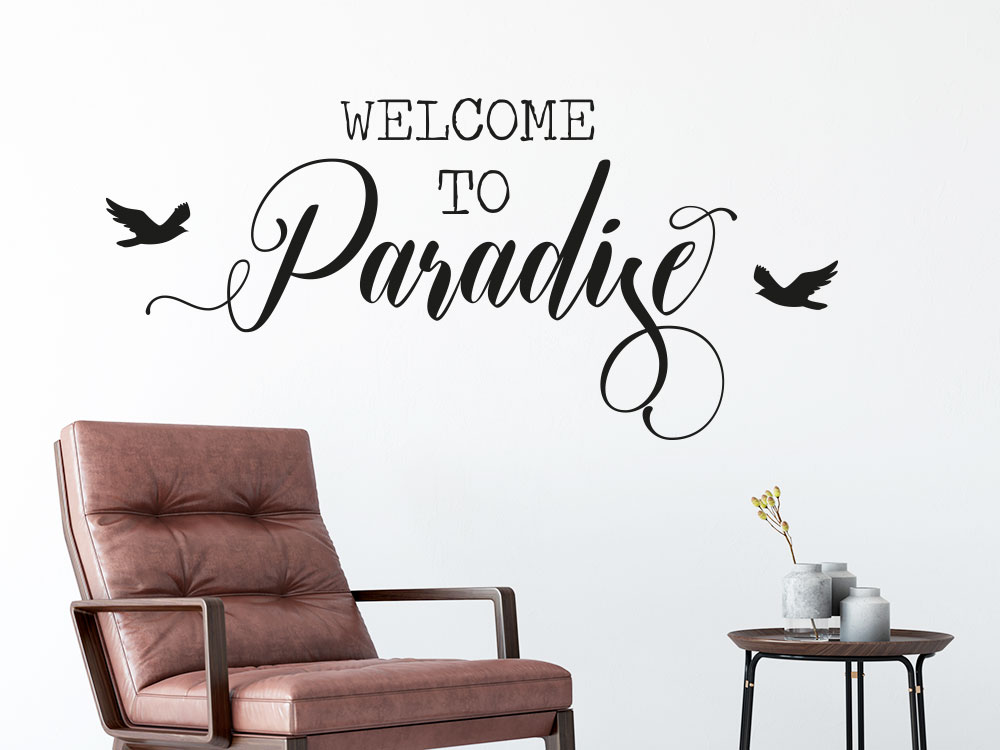 Wandtattoo Welcome to Paradise