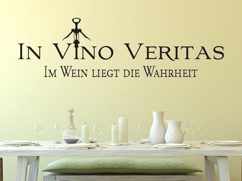 Wandtattoo Spruch In Vino Veritas - Im Wein liegt die Wahrheit