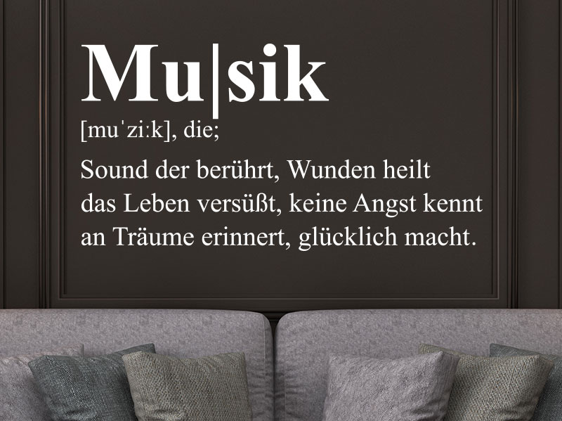 Wandtattoo Musik Definition