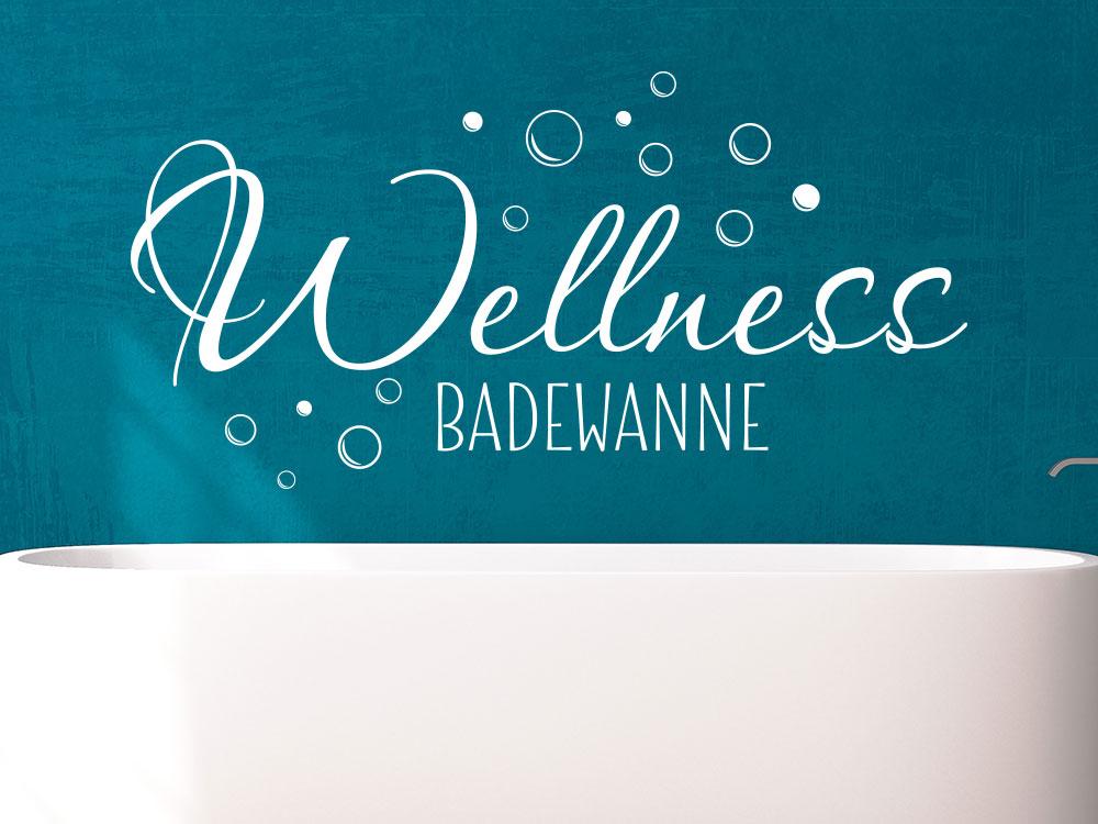 Wandtattoo Wellness Badewanne