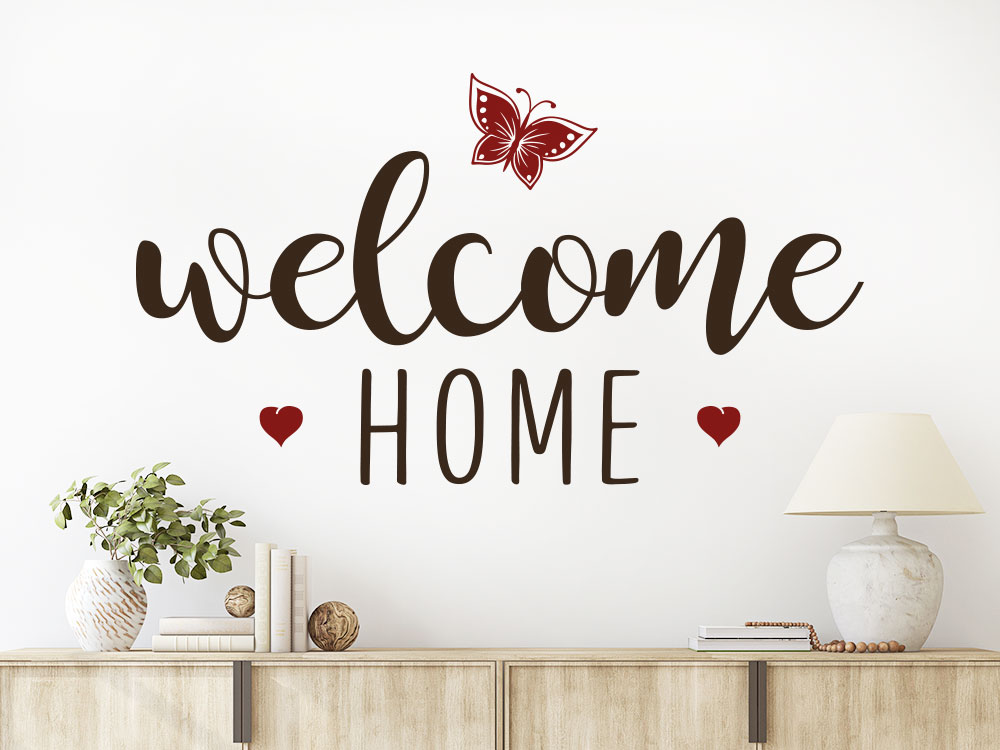 Wandtattoo welcome home zweifarbig