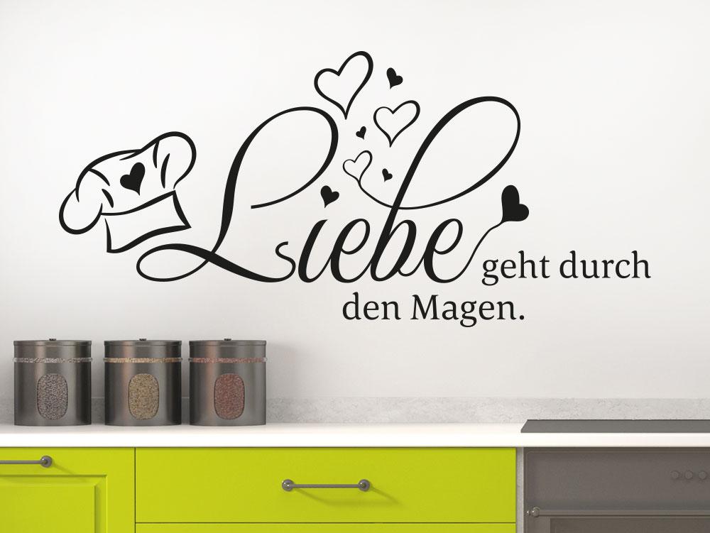 Wandtattoo Liebe geht durch den Magen Küchenspruch als Wanddekoration