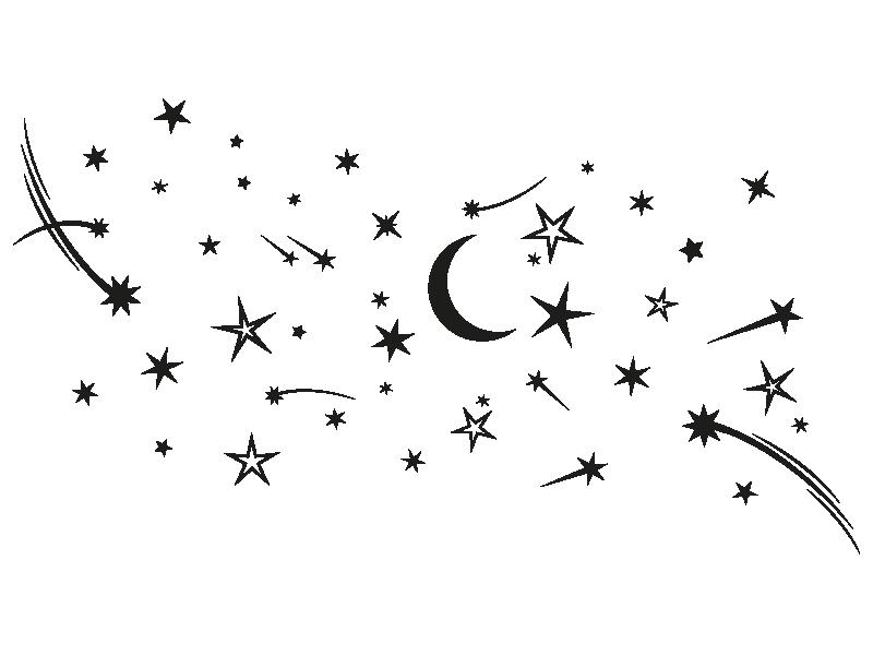 Wandtattoo sternenhimmel for Jugendzimmer zeichnung