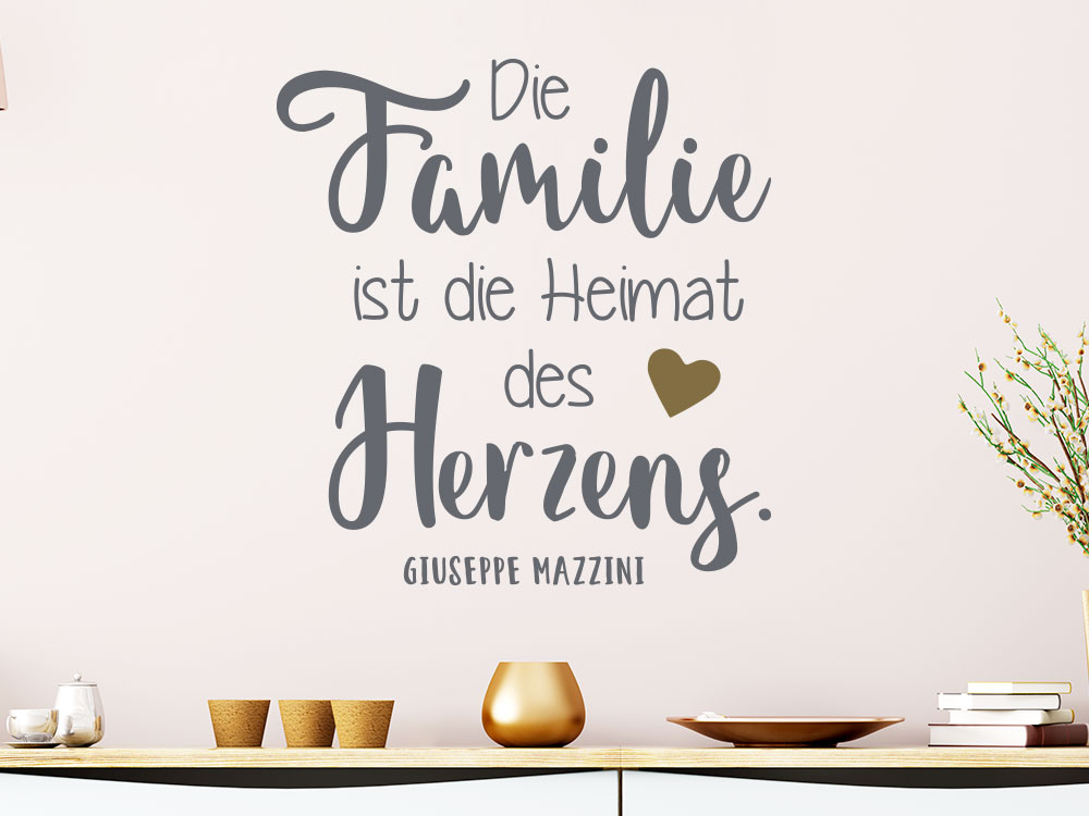 Spruch Wandtattoo Familie ist die Heimat