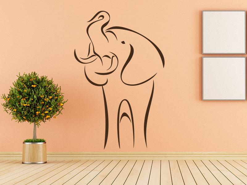 Wandtattoo Wilder Elefant