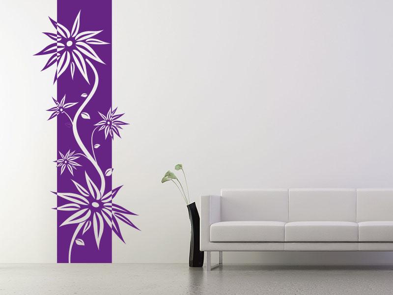 Wandtattoo Banner Blütenranke
