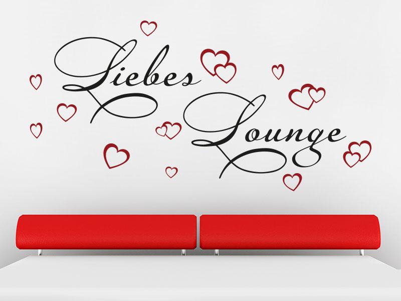 Wandtattoo Liebes Lounge zweifarbig
