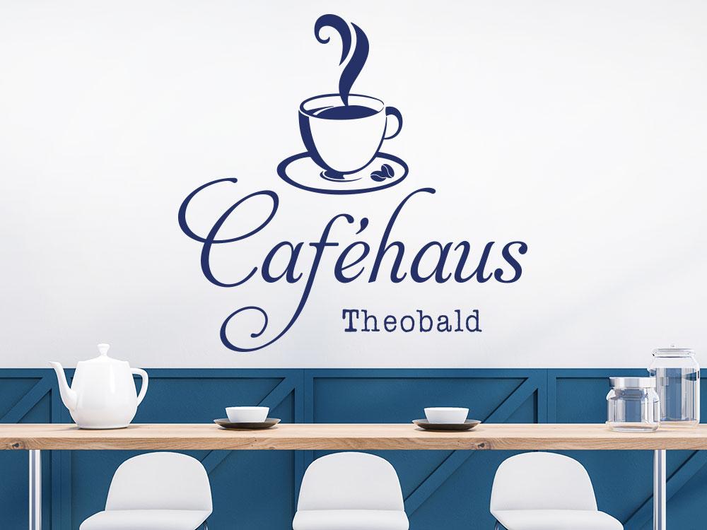 Wandtattoo Caféhaus mit Name