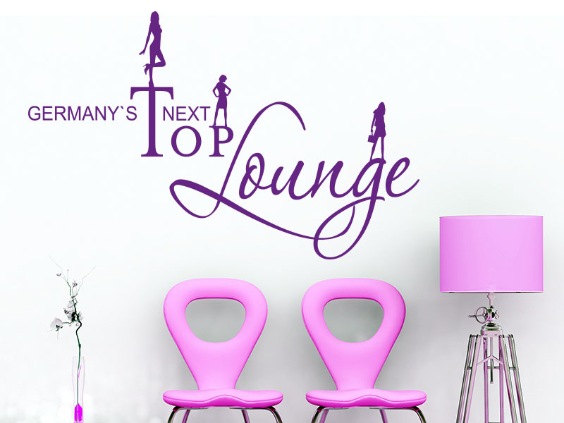Wandtattoo Germanys Next Top Lounge