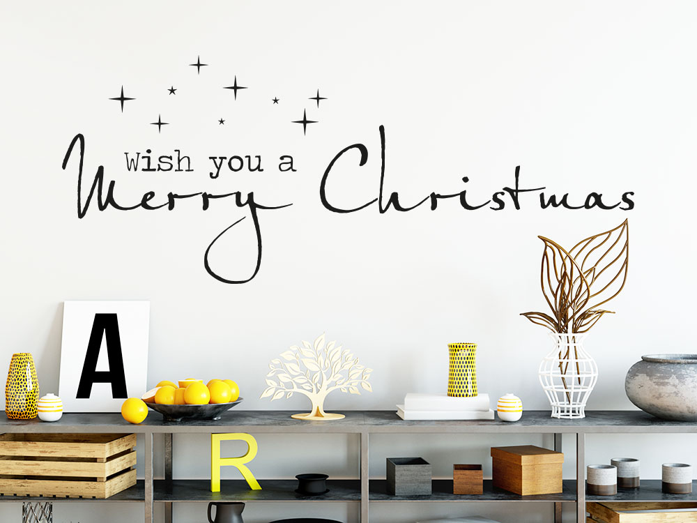 Wandtattoo Wish you a merry Christmas