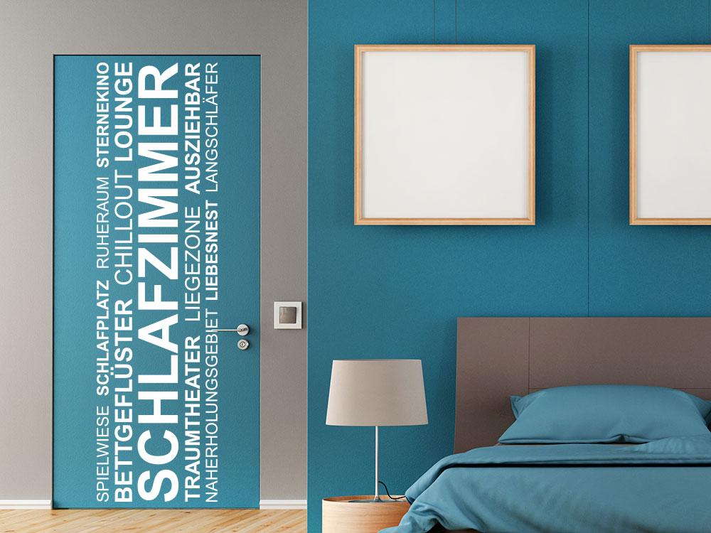 wandtattoo banner schlafzimmer wortwolke von klebeheld de. Black Bedroom Furniture Sets. Home Design Ideas