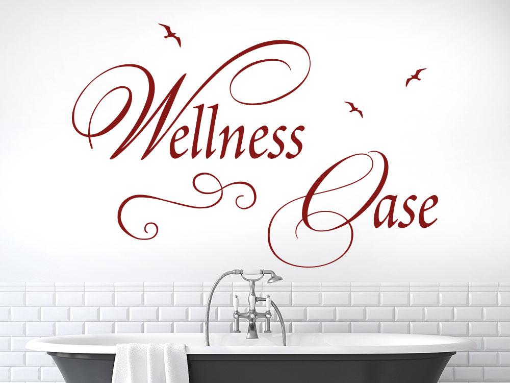 Wandtattoo Wellness Oase im Badezimmer