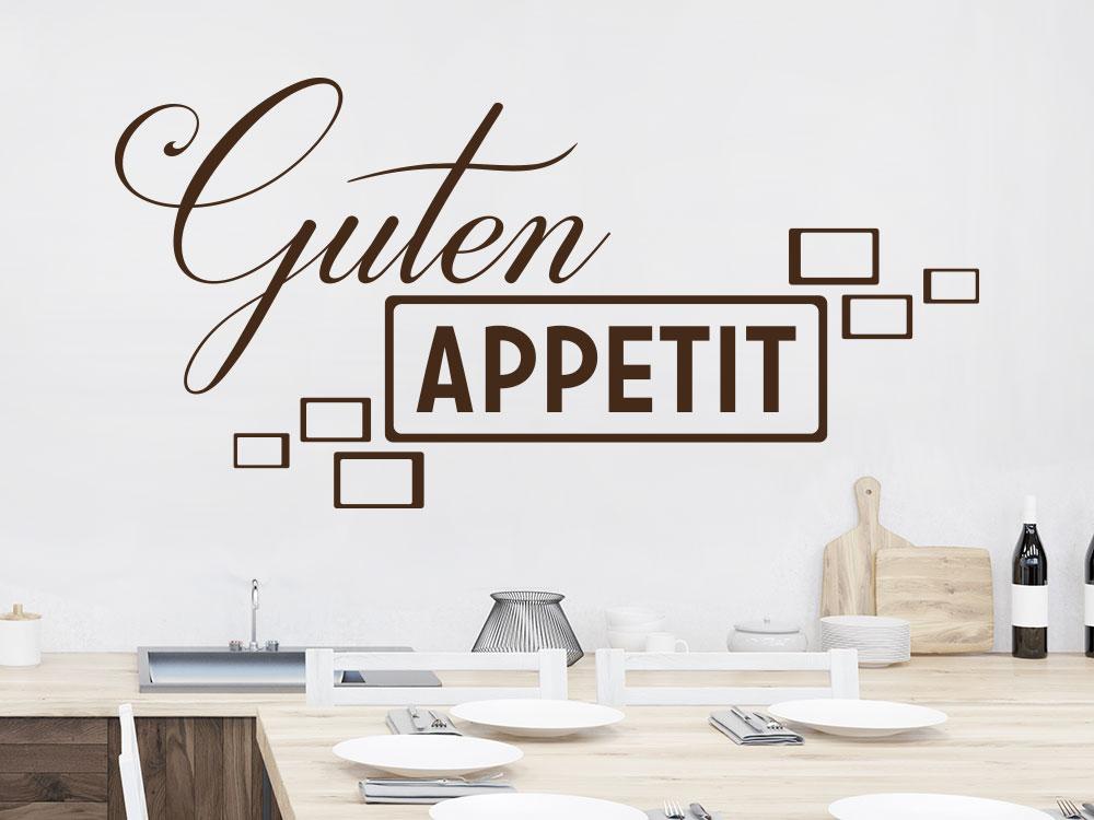 Wandtattoo Guten Appetit Retrolook