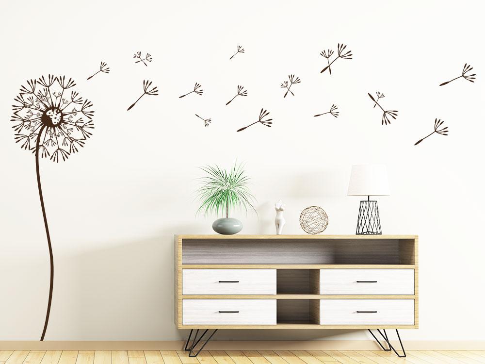 Wandtattoo Putzige Pusteblume helle Wand