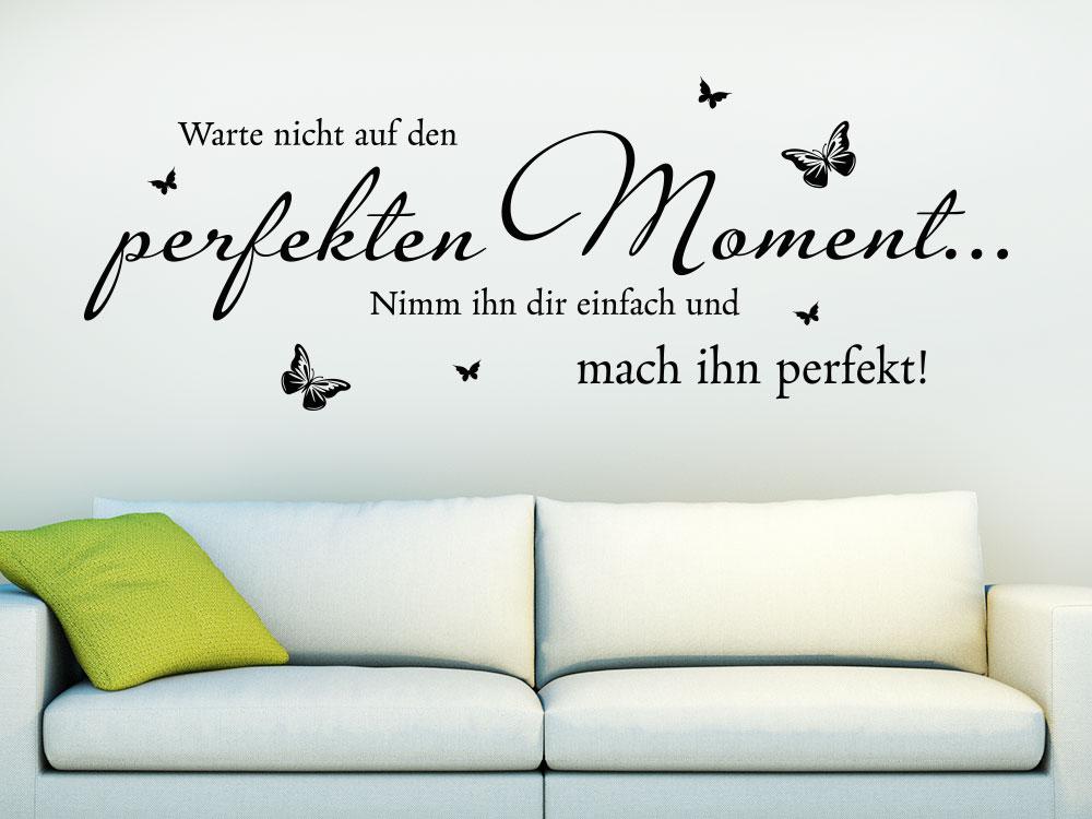 Wandtattoo Der perfekte Moment im Wohnzimmer