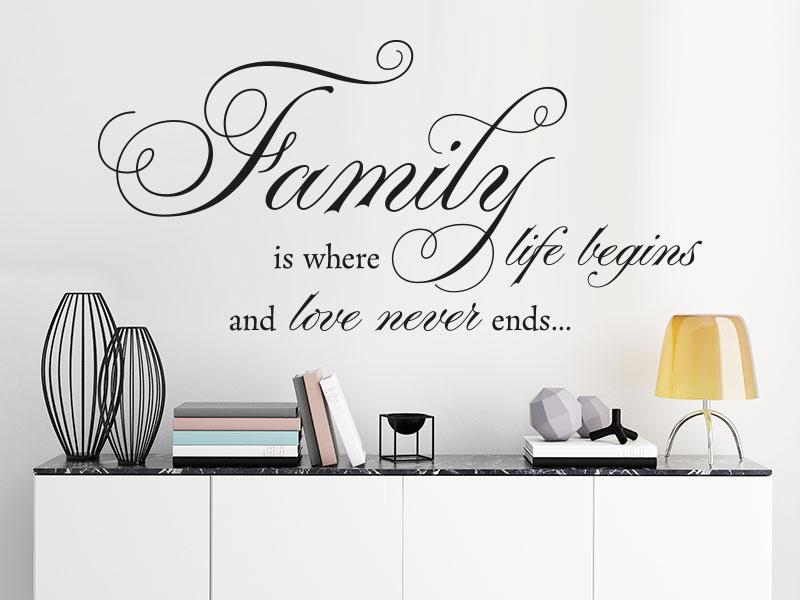 Wandtattoo family is where life begins von klebeheld de - Wandtattoo family ...