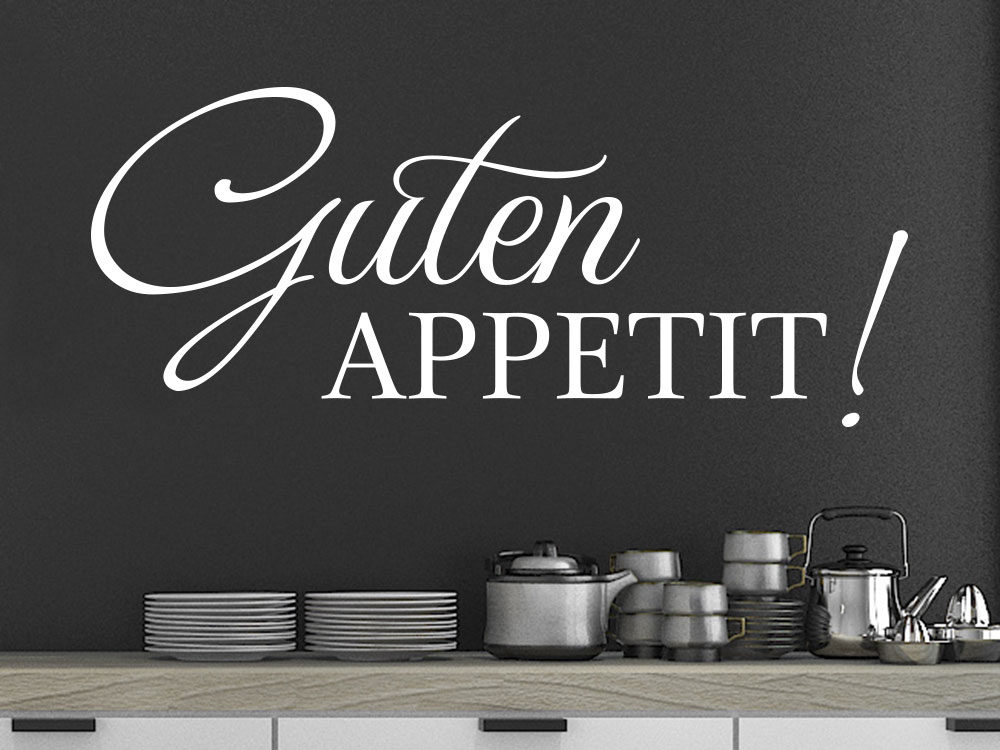 Wandtattoo Modernes Guten Appetit