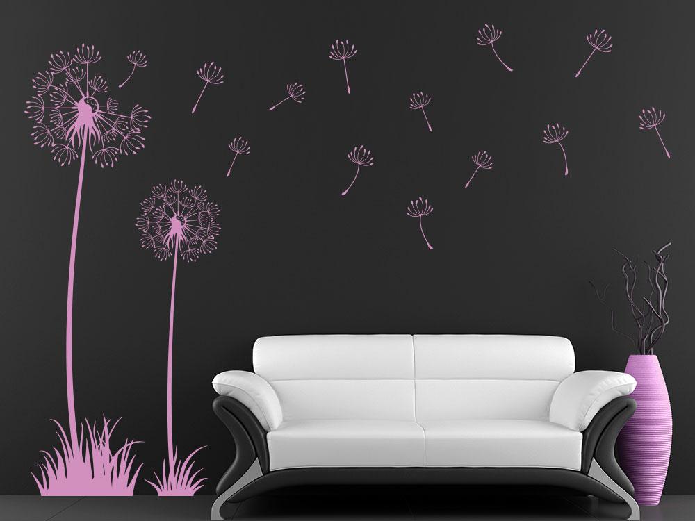 Wandtattoo Pusteblumen Set mit Samen